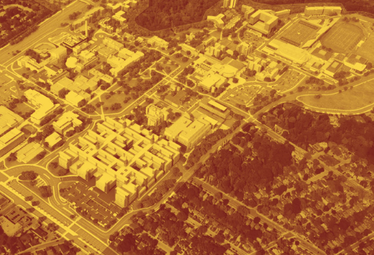 Bird's-eye view of McMaster campus