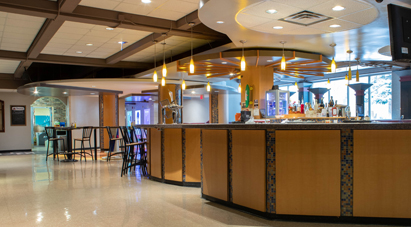 McMaster Restaurants - Cafeteria-style room with multiple mood stations